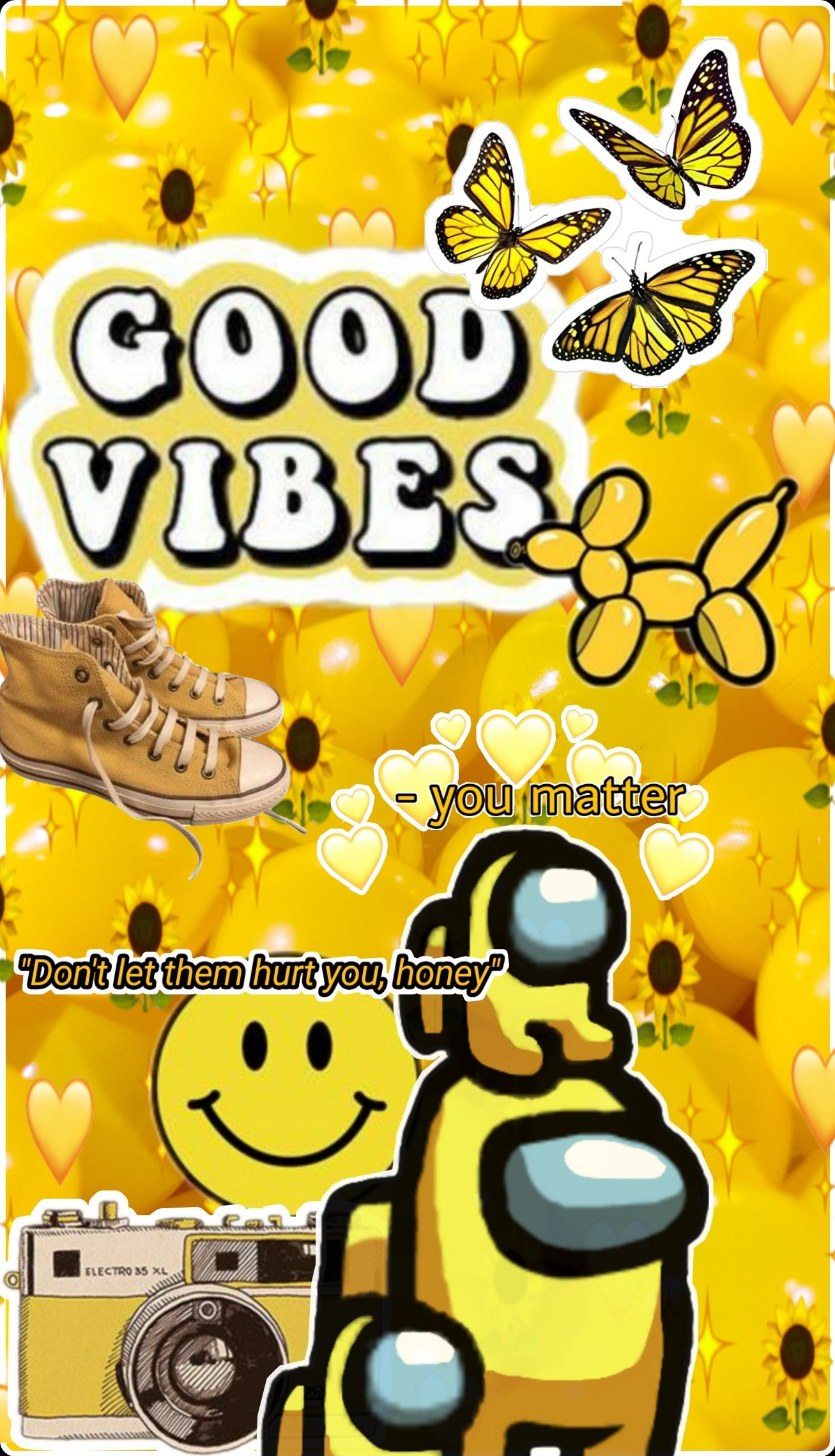 Good Vibes Yellow Wallpaper Wallpaper Yellow Wallpaper Character