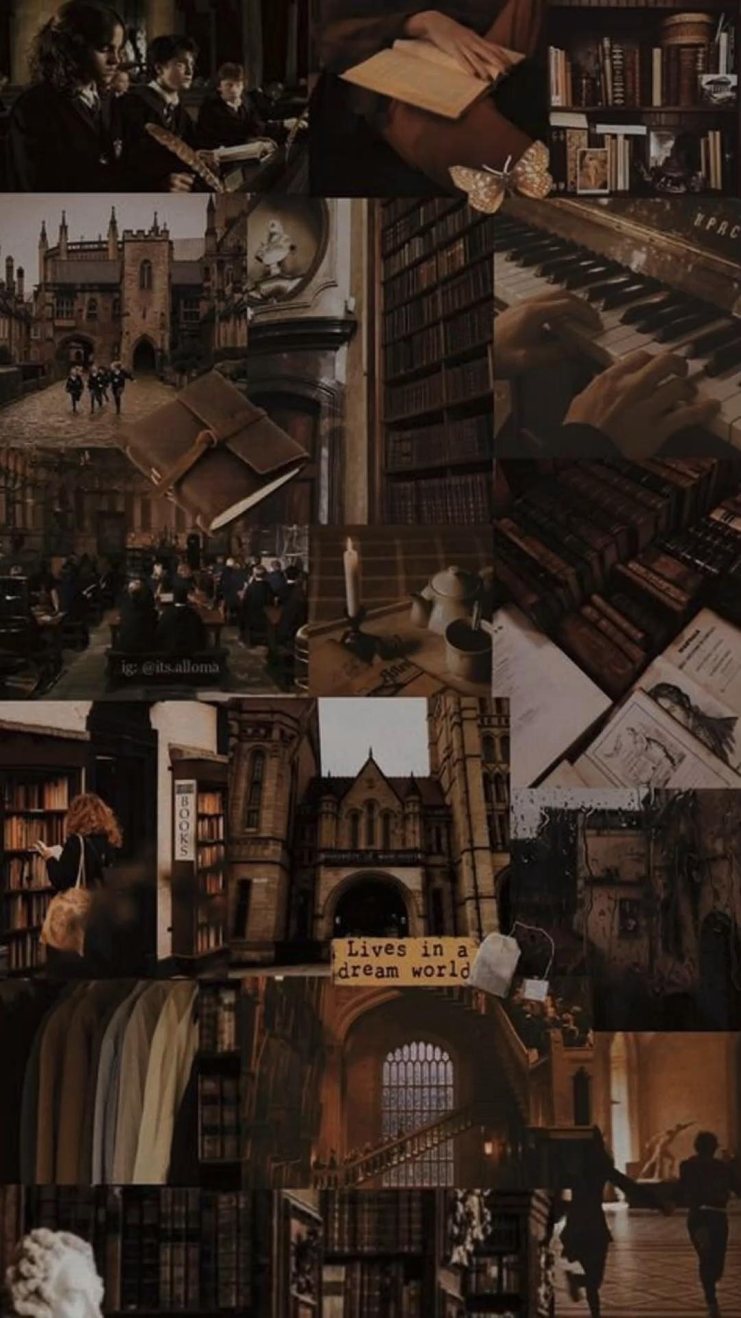 Dark academia wallpapers