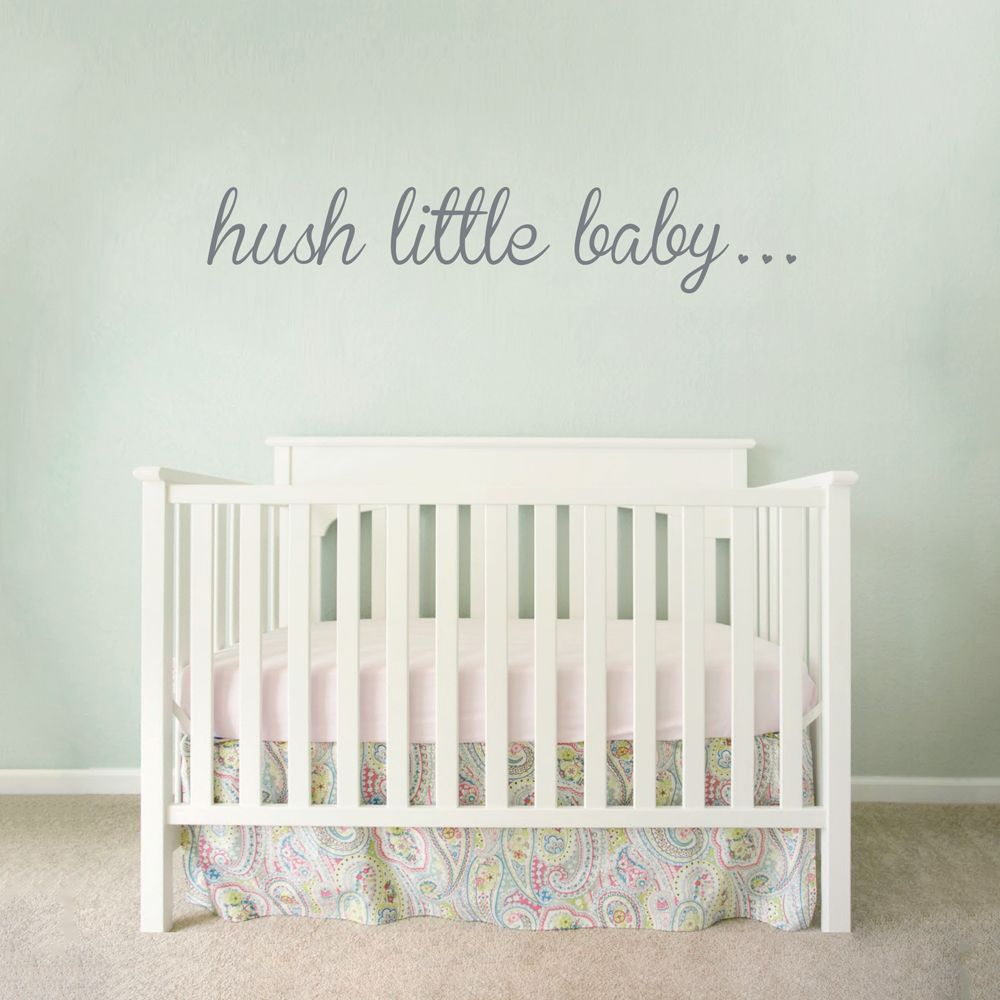 Baby Wandsticker Hush Little Baby Wall Decal Baby S Room