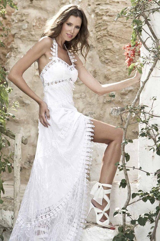 Vestido novia ibizenco
