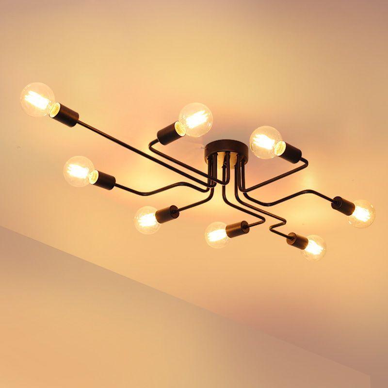 Pas cher Métal nordique Plafond Luminaire LED Américain ...