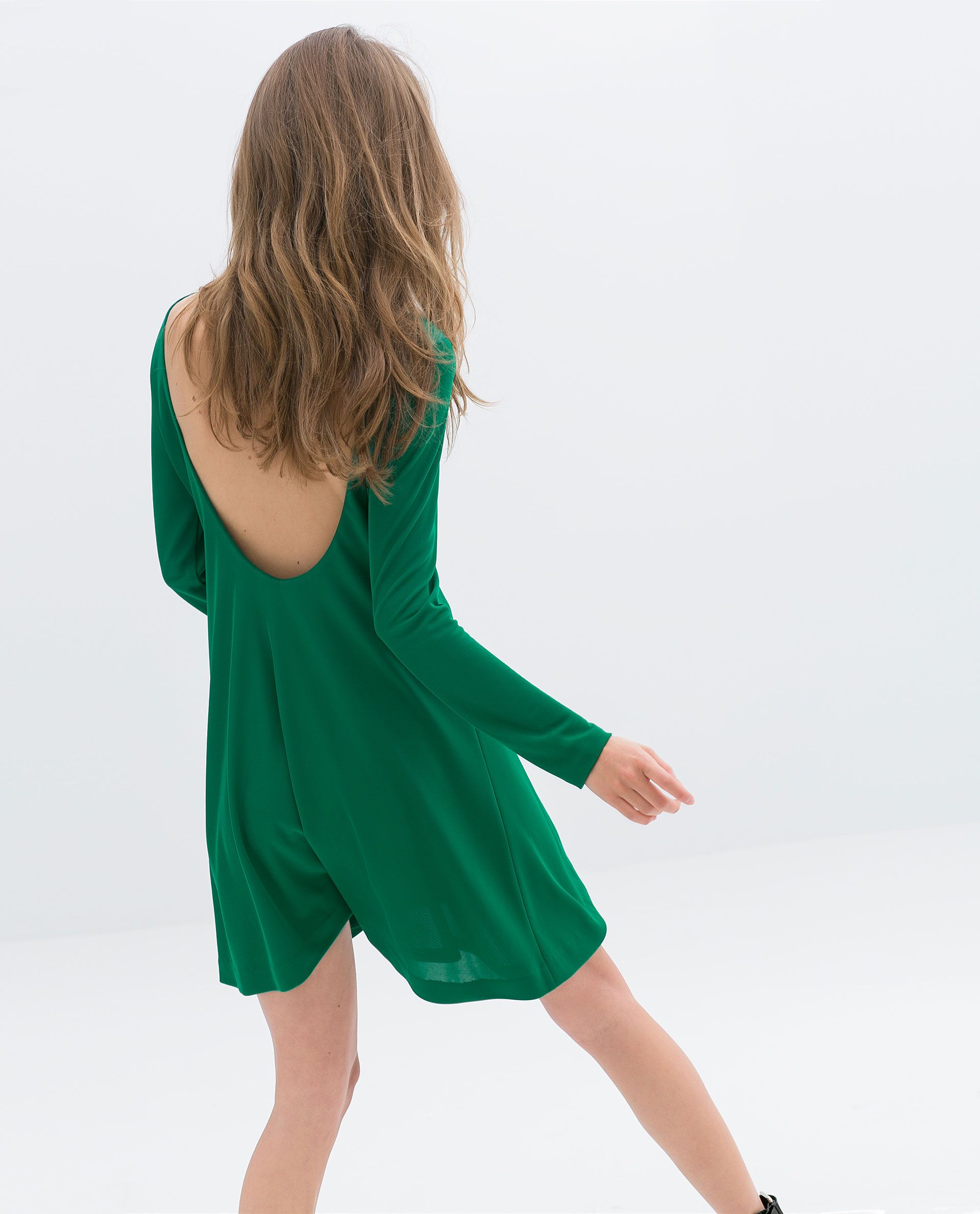 45 Dresses To Wear To A Winter Wedding Zara Green Dress Flowing Midi Dresses Long Sleeve Midi Dress [ 1982 x 1600 Pixel ]