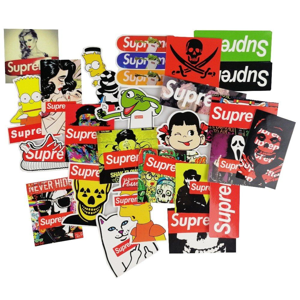 Toys car and bike   Pcs Fashion Cartoon Stickers for Laptop Suitcase Skateboard