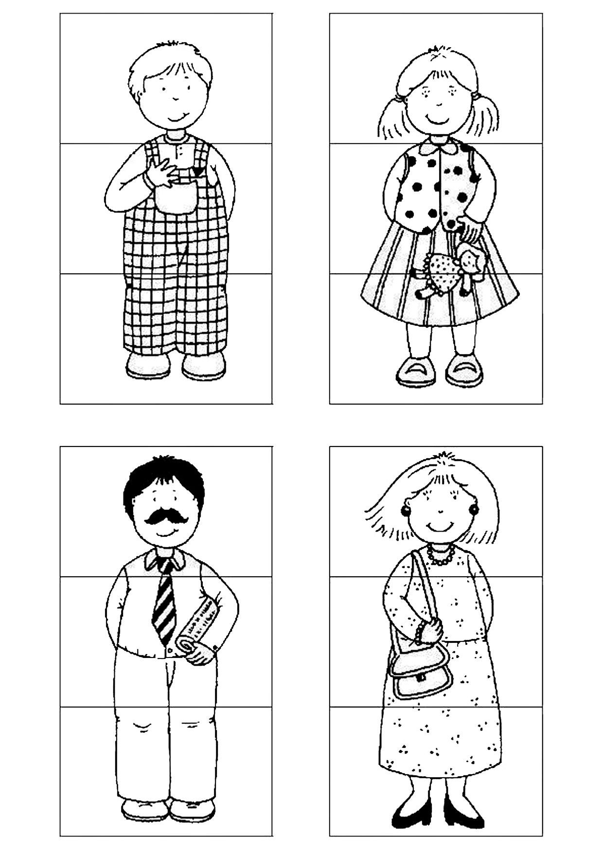 Pazzly I Applikacii Semya Family Theme Preschool Activities Family Puzzles