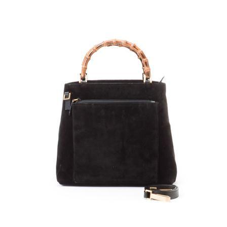 Vintage Gucci 2 Way Bamboo Bag, Black