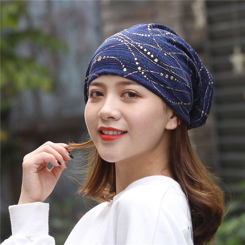 21d333c6 Women Cotton Thin Quick-drying Breathable Sweat Hair Covers Slouchy Soft  Flexible Beanie Hat