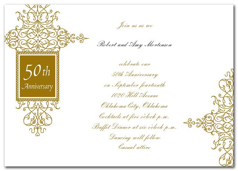 50th Anniversary Invitations Google Search 50th Wedding