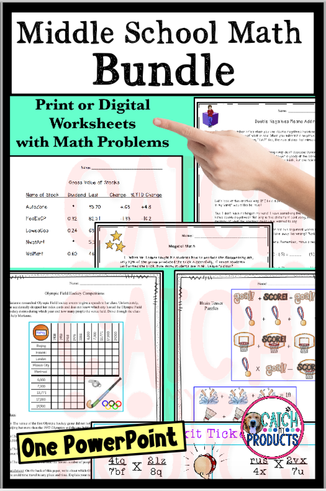 Middle School Math Worksheets And Powerpoint Lesson Bundle For Tweens In 2021 Middle School Math Math Lesson Plans Upper Elementary Resources [ 1580 x 1050 Pixel ]
