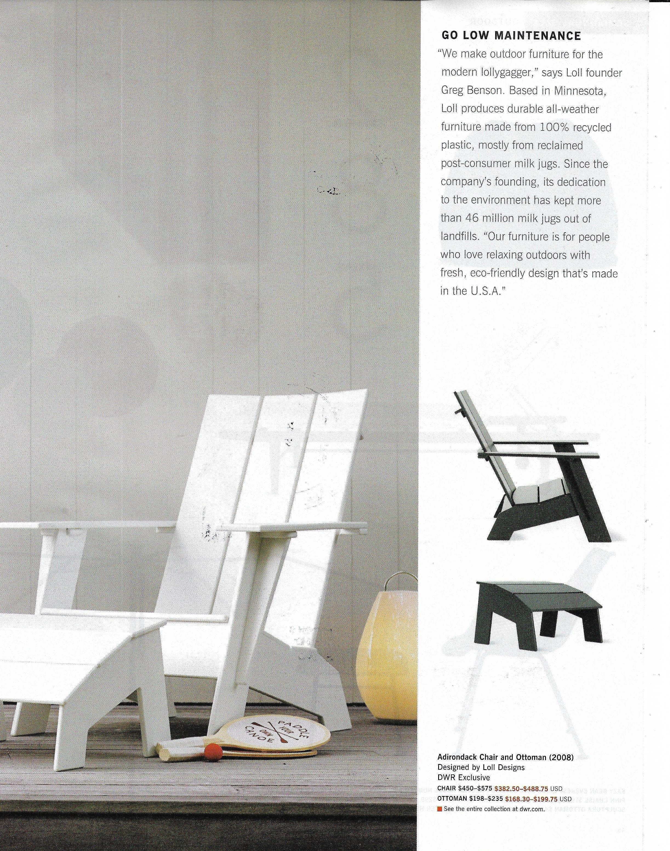 dwr adirondack chairs Adirondack chairs, Patio furniture