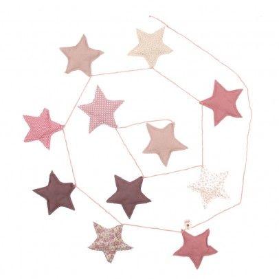 Babyzimmer deko sterne  Girlande Sterne - rosa Rosa | Girlanden, Rosa und Sterne