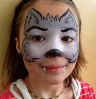 Would emma tolerate facepaint maquillage enfant pinterest maquillage d guisements et - Maquillage loup facile ...