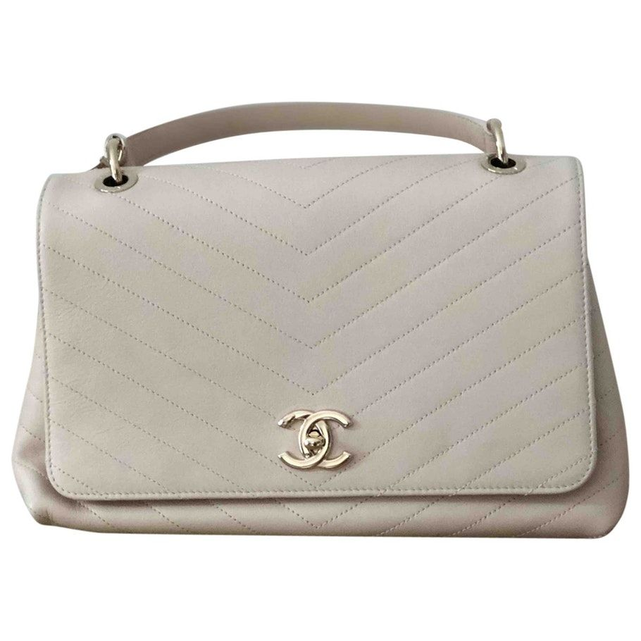 d247ac485b93 beige Plain Leather CHANEL Handbag - Vestiaire Collective | Bags ...