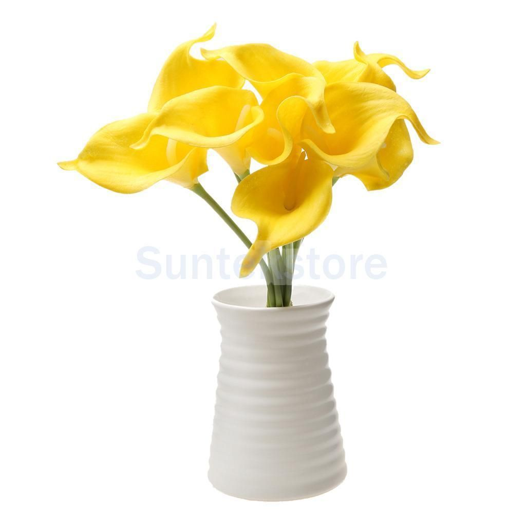 9X Artificial Calla Lily Bridal Bouquet Flower Photo Props Home ...