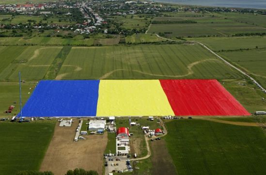 Romania has the largest flag in the world. Antena 3 Romania entered the giant flag in GUINNESS WORLD RECORDS ™ on May 27th 2013.The flag is spreading over 80,000 square meters .