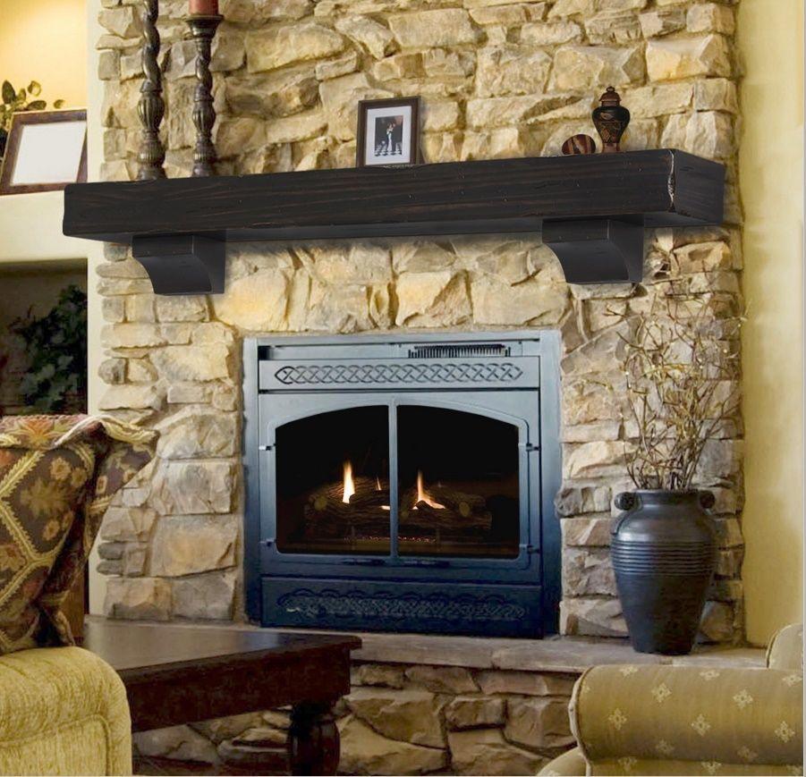 finish | Rustic fireplace mantels