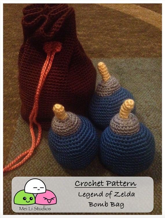 The Legend of Zelda Bomb Bag Crochet Pattern - Ocarina of Time ...