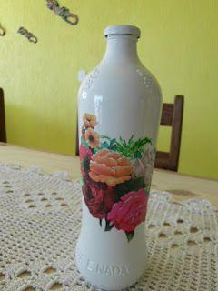 ARTES DA FABI: Garrafas recicladas e decoradas.