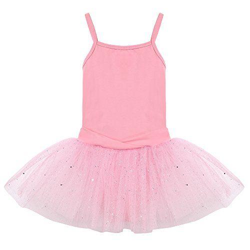 Arshiner Girls Gymnastic Ballet Dance Tutu Dress Camisole Tank Leotard Skirt