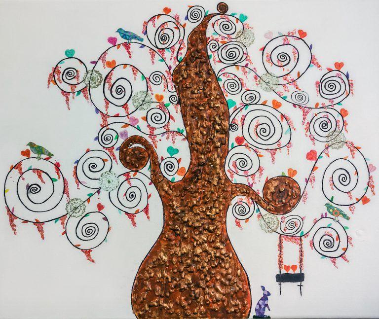 Albero della Vita:– Tecnica mista su tela. Londra  - 2015 50 x 40,5