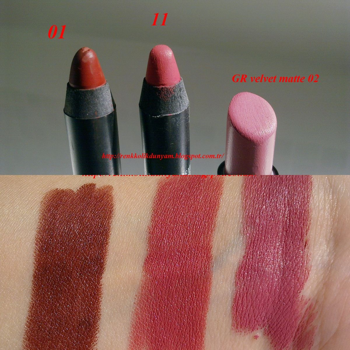 Goldenrose Matte Lipstick Crayon 11 Ve Golden Rose Velvet