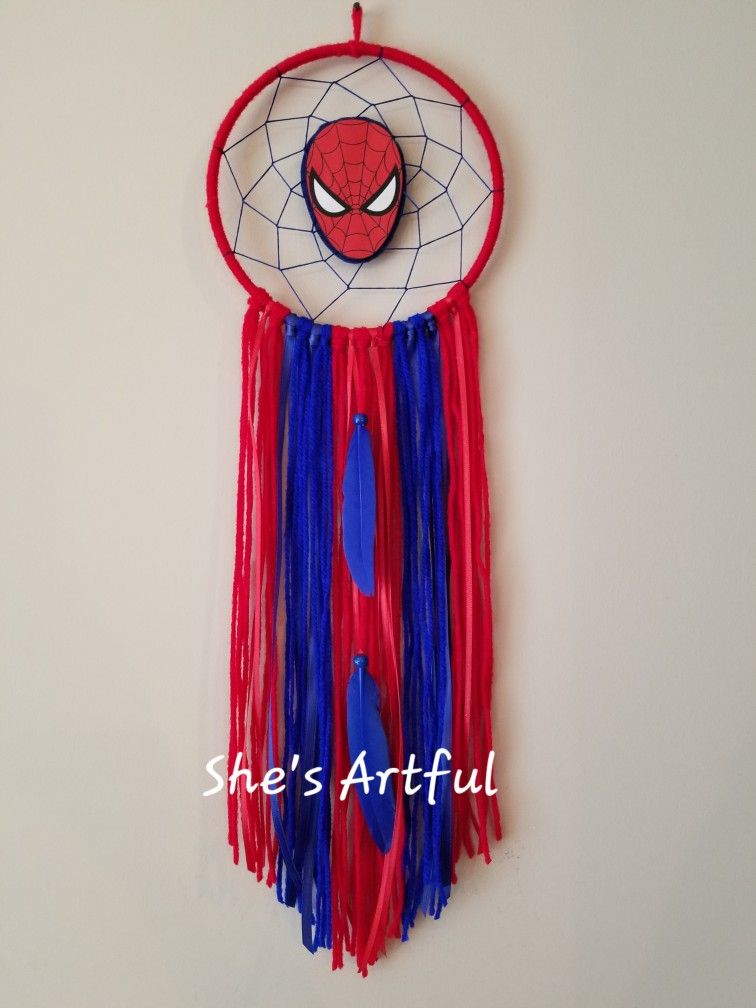 Spiderman Dreamcatcher Made By Sara Rogers Of She S Artful