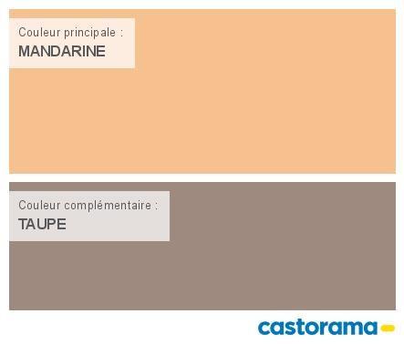 Castorama Nuancier Peinture   Mon harmonie Peinture MANDARINE