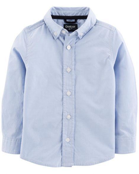 Toddler Boy Uniform Button Front Shirt From OshKosh Bgosh Shop Clothing Amp