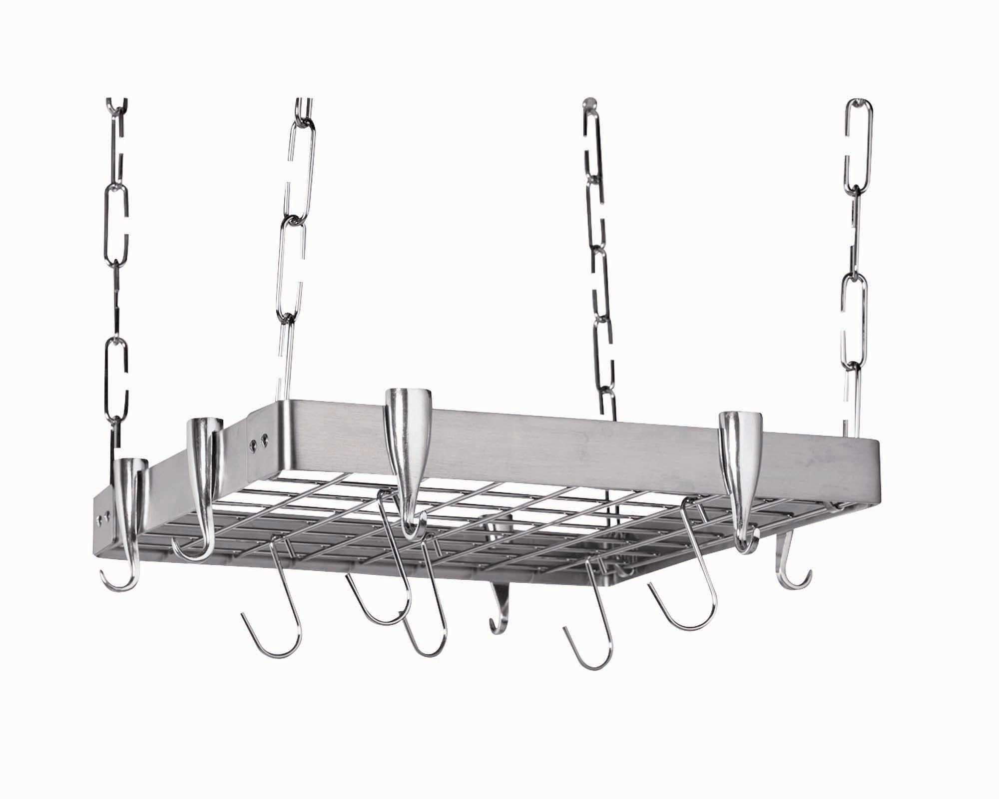 Stainless Steel Square Pot Rack Pot Rack Hanging Hanging Pots Pot Rack