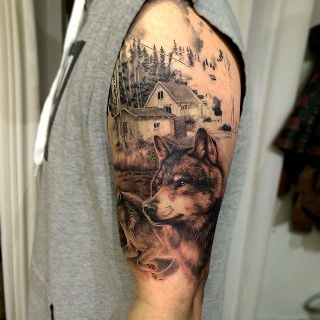 Tatuajes de lobos , ideas y simbolismo Indian tattoos Pinterest