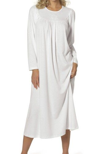 Womens Nightshirt Soft Cotton Plain Long Sleeve Nightie CALIDA Free Shipping Classic Inexpensive Cheap Huge Surprise Fast Delivery Sale Online woEab