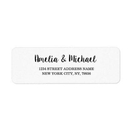 Elegant Custom Return Address Label Wedding | Custom return address ...