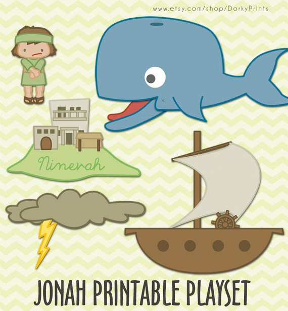 image about Whale Printable named Jonah and the Whale Printable PDF - bible printables