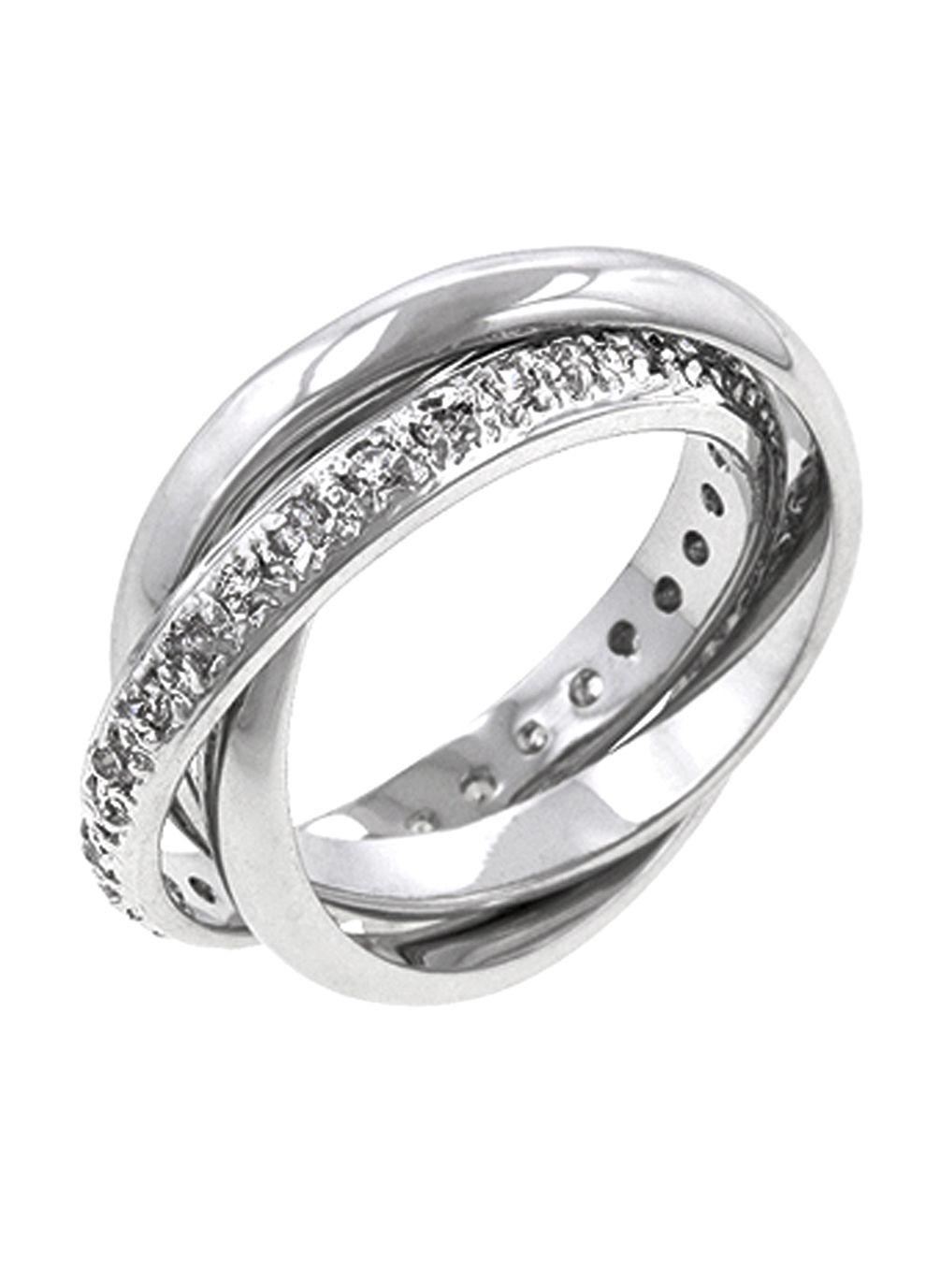 Jewellery White gold bonded interlinking eternity band ring one
