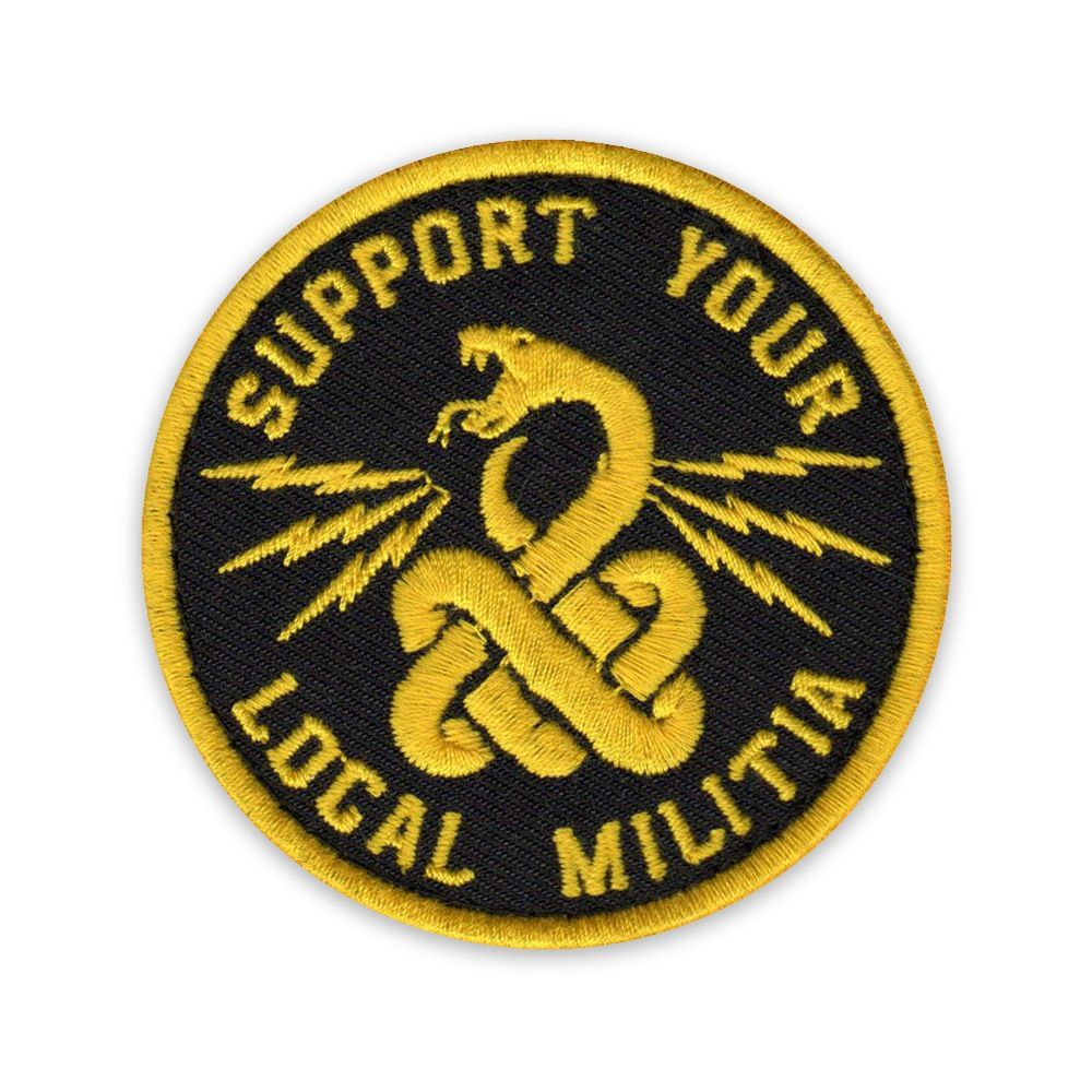 1d0e829dfa32 Image of Support Your Local Militia Patch | morale patches | Patches ...
