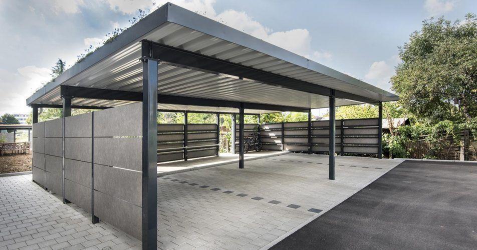 Einzelne Carports Projekt Mit Stahlsystemen Carports Einzelne Mit Projekt Stahlsystemen In 2020 Carport Designs Modern Carport Garage Design