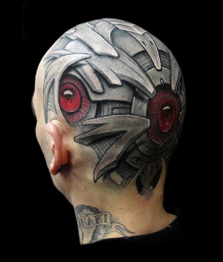 35 Bio Mechanical Tattoo Designs intended for