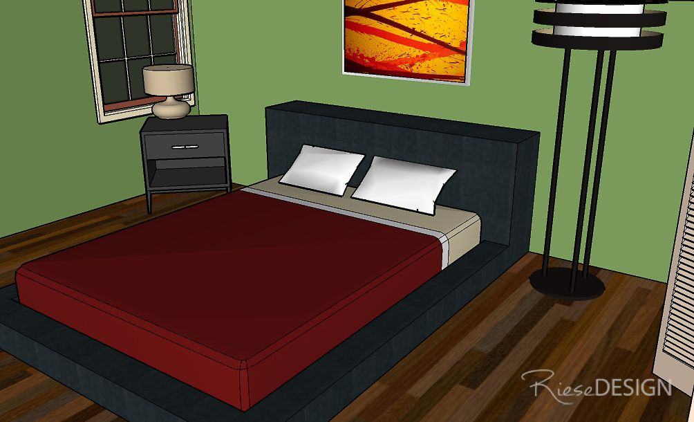 SketchUp 3D view of Master Bedroom.