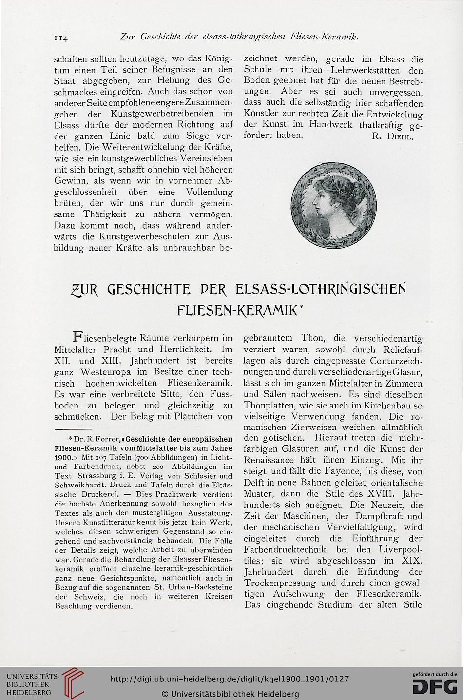 Das Kunstgewerbe in Elsaß-Lothringen  — 1.1900-1901 - VIA HEIDELBERG