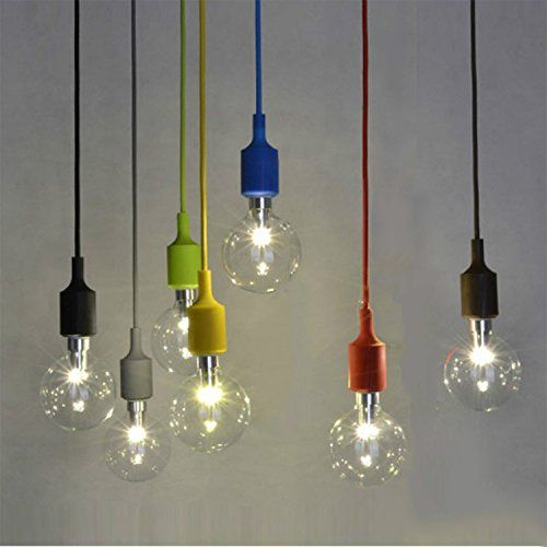 Diy couleur base socket culot à vis e27 ampoule lampe suspension décoration style simple moderne