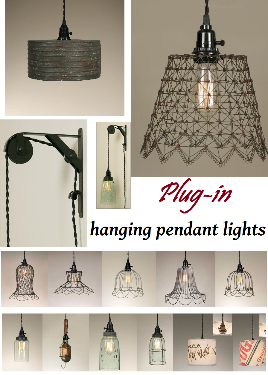 Hanging Pendant Lamp Plug In Light Pulley Lights Hanging