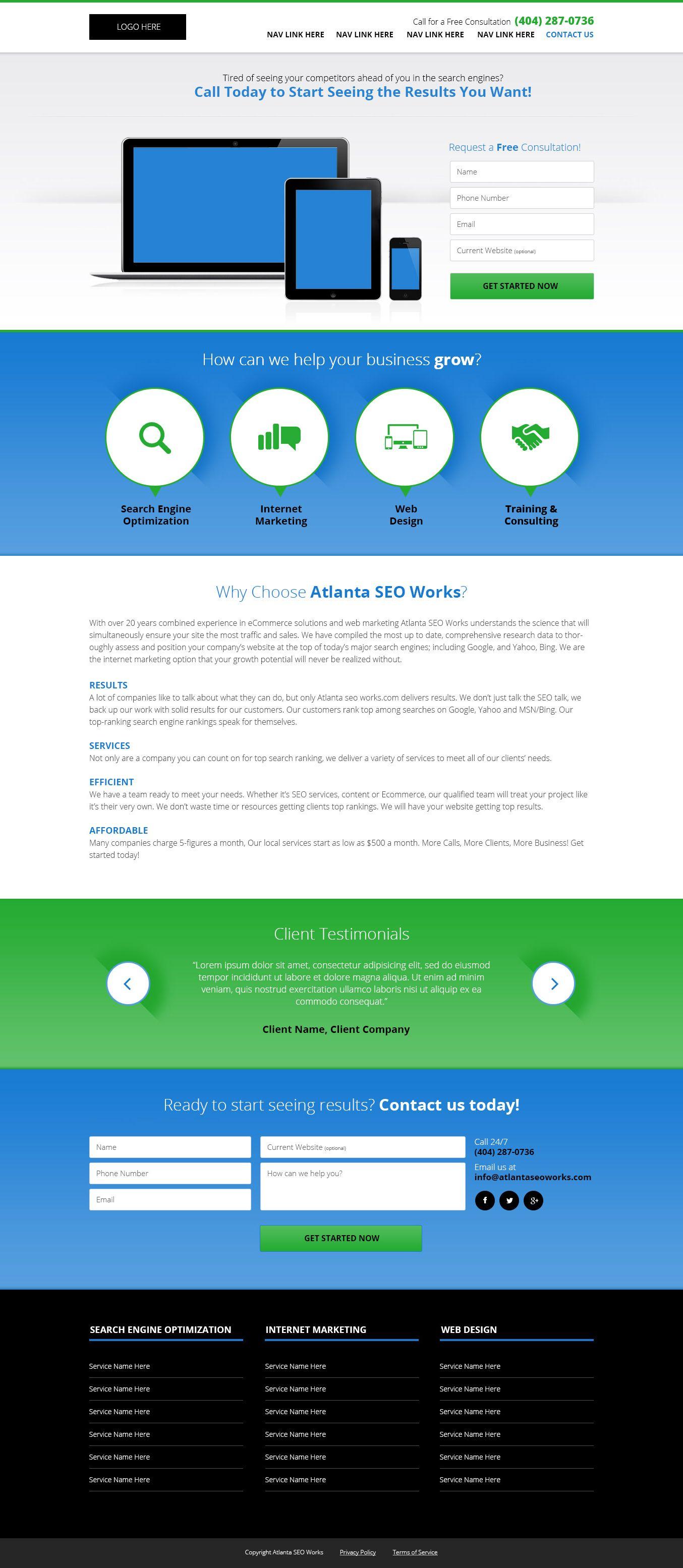 Website Design For An Internet Marketing Company Website Design Internet Marketing Company Portfolio Web Design