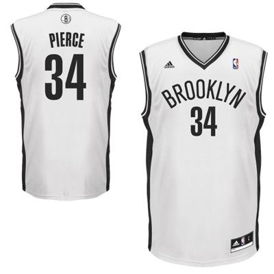 adidas Paul Pierce Brooklyn Nets Replica Player Jersey - White