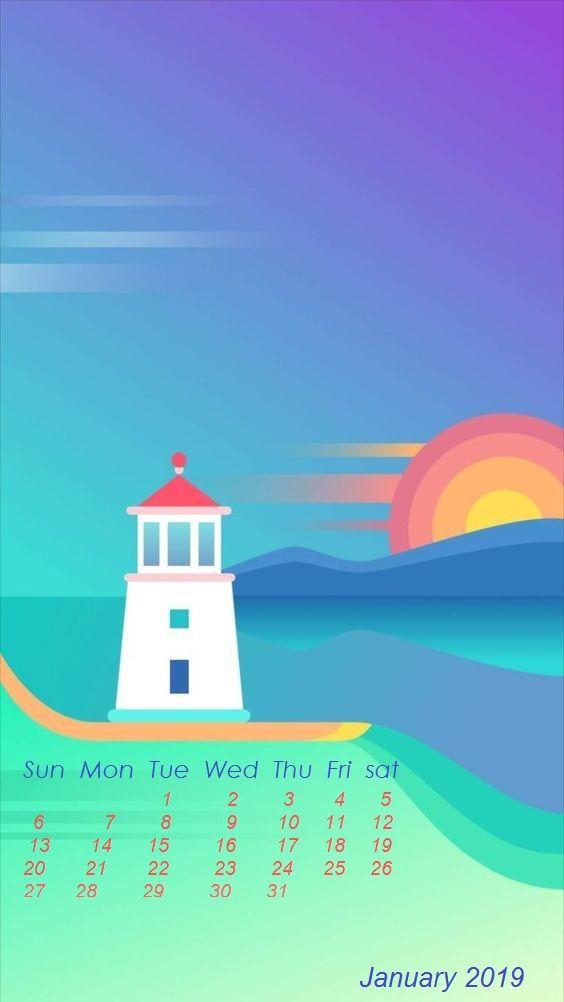 Cute January 2019 Calendar Wallpapers Iphone Ipod Mac Apple Watch