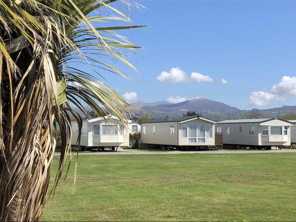 Dinlle Caravan Park, Llandwrog, Caernarfon, Gwynedd, Wales, UK