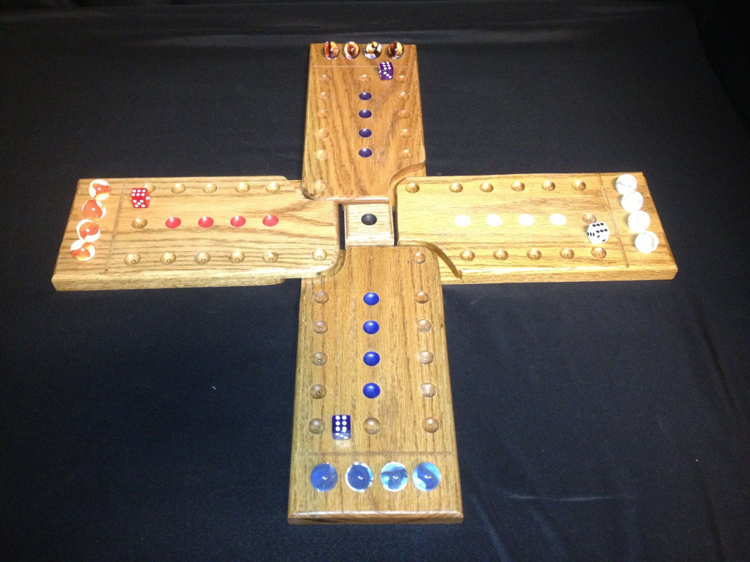 Popular marble game in a new style. Individual boards
