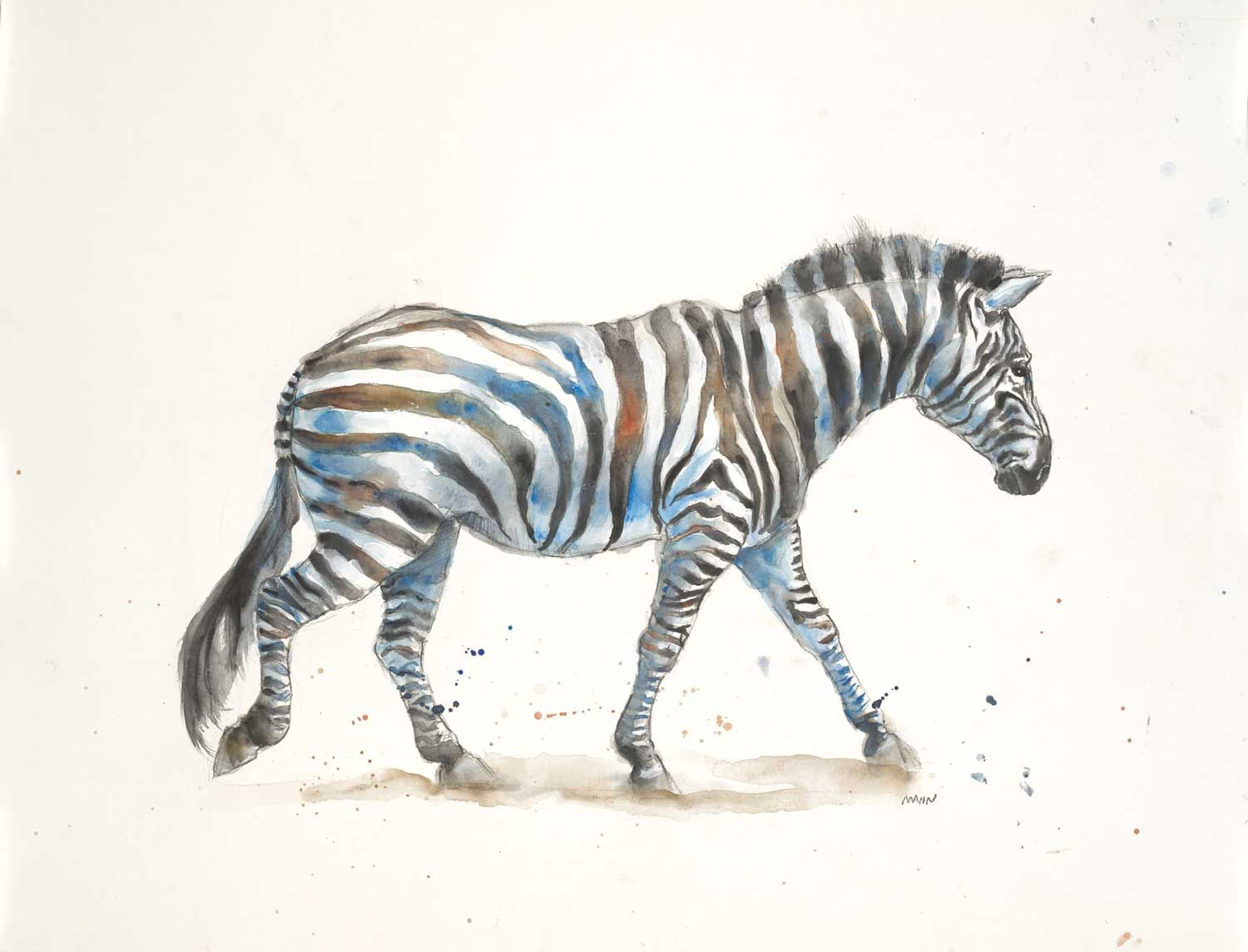 Zebra by Patti Mann | My Art ©Patti Mann & Blonde Iguana Art | Pinterest