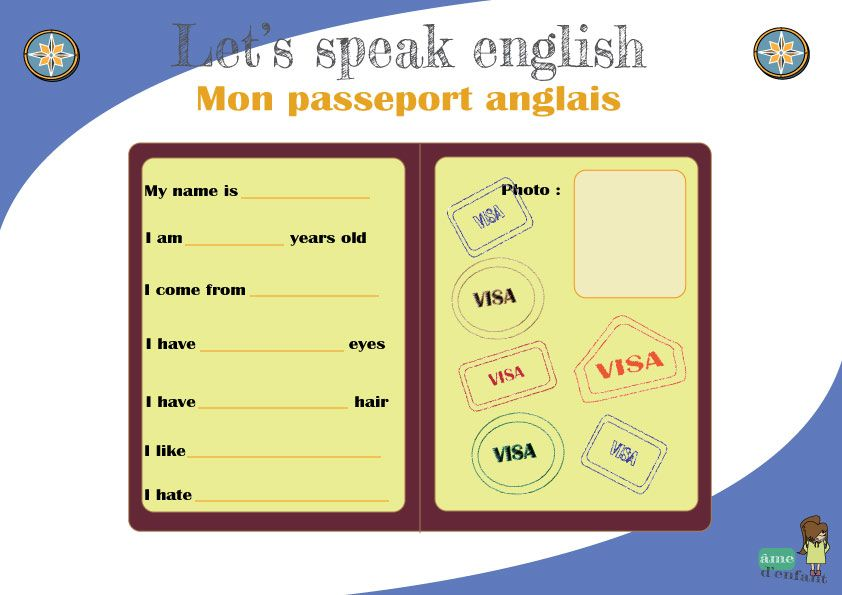 "Fabuleux J'apprends l'anglais - ""My english passport"" 