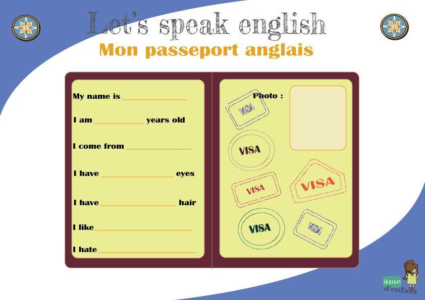 "J'apprends l'anglais - ""My english passport"" | Jeu en ..."