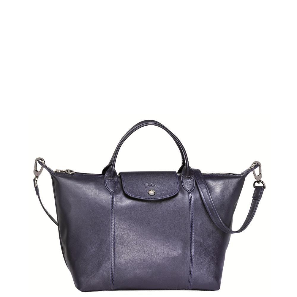 878ec924772 Longchamp handtas Le Pliage Cuir black | My Style | Le pliage cuir ...