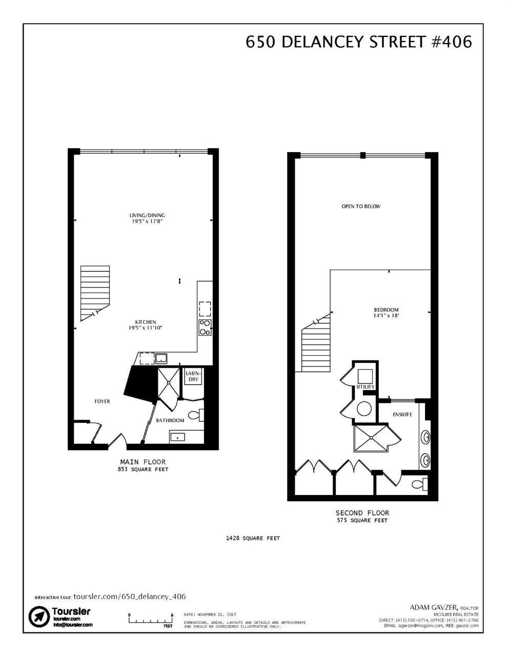 650 Delancey St #406, San Francisco, CA 94107 | Floor ...